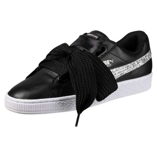 Puma BASKET HEART VS Moda semplice Nero Sneakers Scarpe